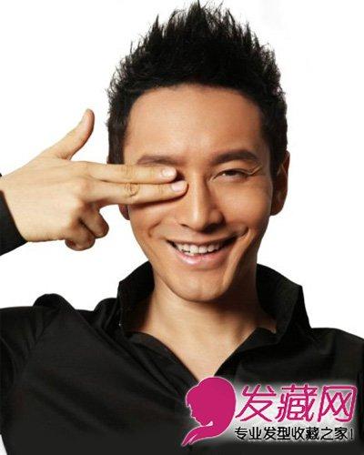 黄晓明经典帅气飞机头圆寸头发型(3)