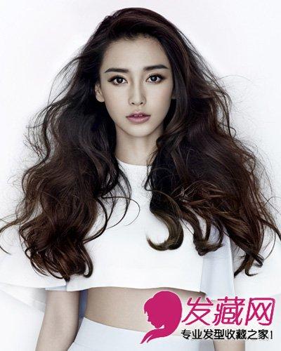 angelababy长卷发 中分长直发清纯可人(4)