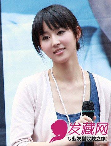 甯发型 气质不及高圆圆(8)  导读:早期的齐刘海造型,感觉很是甜美可爱
