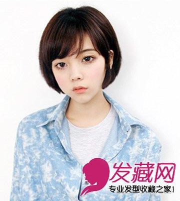 三七分斜刘海短发清新有气质 短发可帅可优      郑惠媛是韩国知名