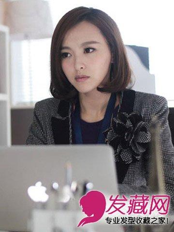 唐嫣baby赵丽颖披肩长直发发型 长发女星短发也很美(9)图片