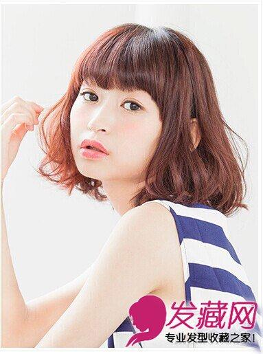 时尚中长梨花头发型 简单的内卷短发(3)