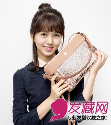 随性扎发 碎剪的齐刘海发型(4)
