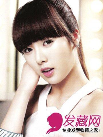 随性扎发 碎剪的齐刘海发型(5)