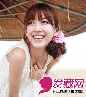 随性扎发 碎剪的齐刘海发型(7)