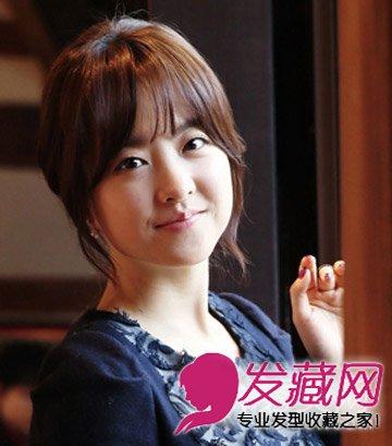 随性扎发 碎剪的齐刘海发型(9)