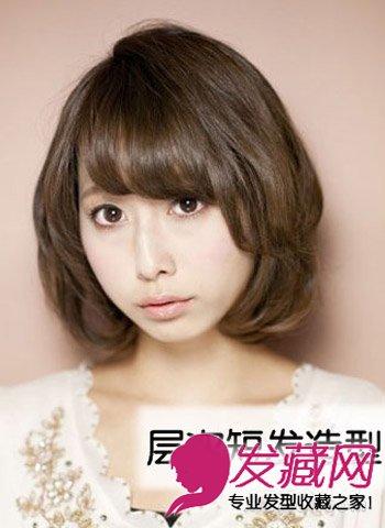 卷翘短发发型设计 日韩流行空气卷发(4)图片