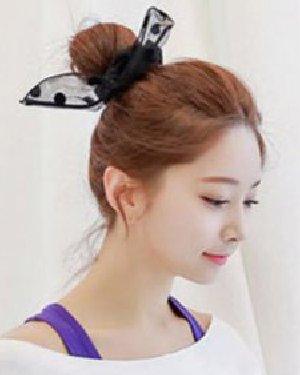 > 无刘海发型