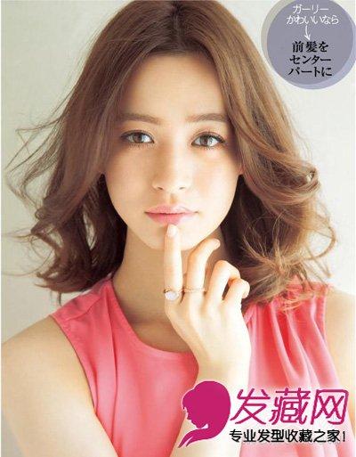 经典柔顺齐肩bobo发(5)  导读:微甜可爱中分让女子力提升 中分的发型图片