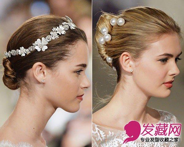 五款韩式新娘盘发让你好看时尚有气质 →温婉大气中式新娘盘发教程