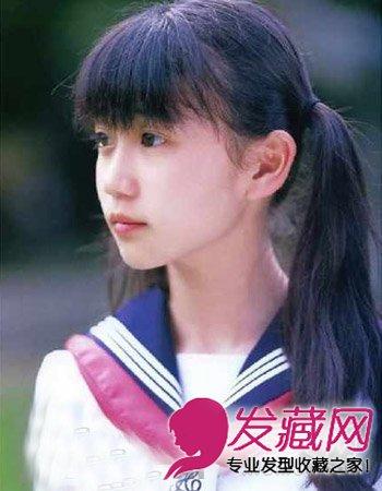 日式可爱的高刘海发型 高中生必备清纯马尾扎发(8)