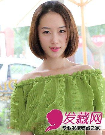 9款时尚中分发型 清爽淑女短发型图片