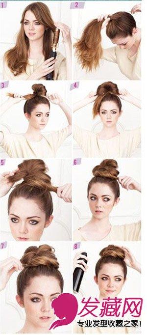 教你扎丸子头发型 必学扎法图解(6)