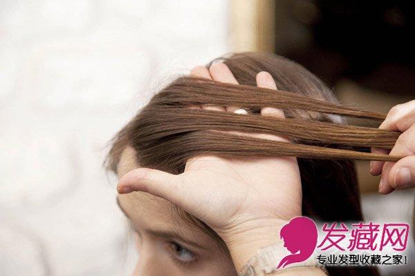 简单好学女神范儿发型 麻花辫盘发教程(2)图片
