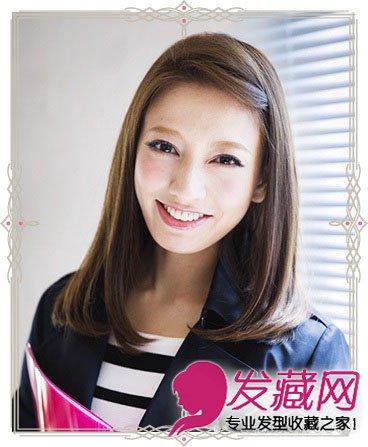 中长发内扣发型优雅清新 刘海编发更显甜美