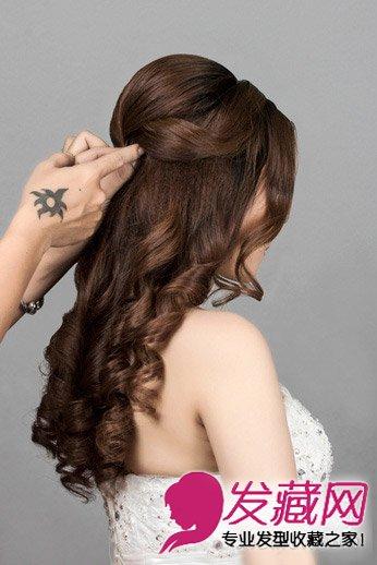 【图】十足大牌范 2015韩式新娘发型扎法图解(5)_编发