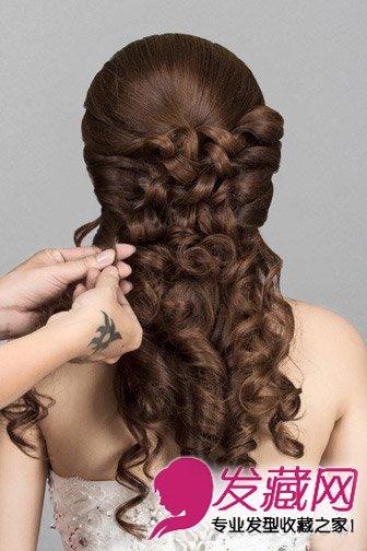 2015韩式新娘发型扎法图解(8)