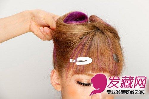 【图】一分钟学发型 diy可爱韩式猫耳朵扎发(7)_编发