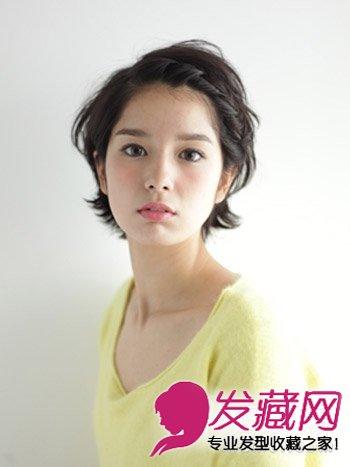 短发怎么扎起来 刘海编发简单有型图片