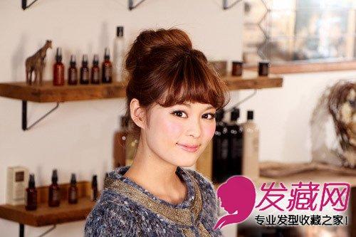 丸子头以及气质的蝴蝶 →杨幂出街都在扎低马尾 马尾辫最常用的发型图片