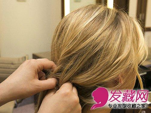 侧编发发型 波西米亚风鱼骨辫扎法(5)