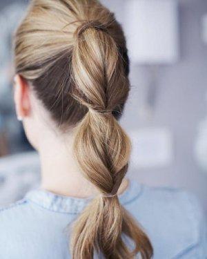 分段马尾 鱼骨辫编发 适当高度的马尾辫发型图片