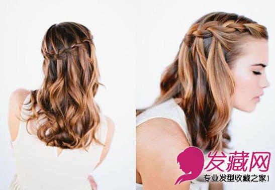 发型网 发型diy 编发教程 > 法式瀑布编发发型图解 美到令人窒息(7)