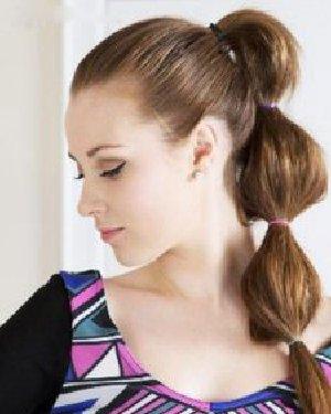 最新俏皮高马尾扎发发型图解,个性泡泡马尾辫,让长直发更呈现迷人效果