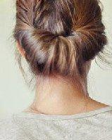 简单盘发教程 盘头发的方法图解