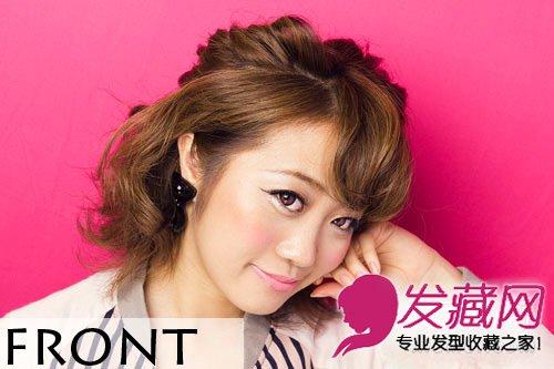 时髦的短发扎发造型 超简单日系短发发型扎法(10)  导读:最后一款可爱
