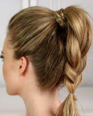 其实不然,在马尾上衍生出很多种编发,其中高马尾 辫子元素的发型,就会图片