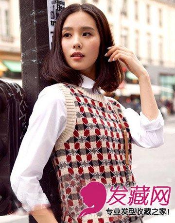 魅力时尚的齐肩发型,内扣的发尾完美呈现出一种淡雅知性美.