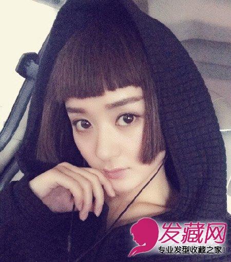 古装美人赵丽颖齐刘海 短发剪刀手卖萌(4)