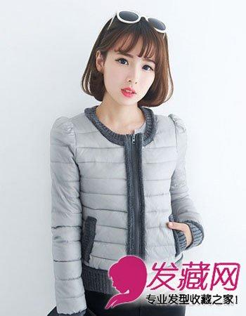 空气感刘海长卷发发型 齐刘海美丽重生(6)图片