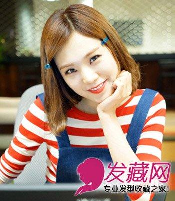 甜美的淑女系韩式中短发烫发 减龄有淑女气息图片