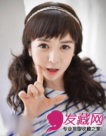 秋季淑女发型 水波纹式的双马尾扎发发型 →马尾辫的6种扎法 春夏图片