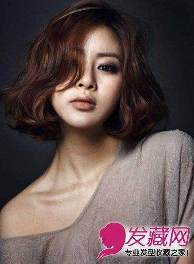 【图】浅灰色的染发颜色 齐肩的短发发型 3 女生短发发型 发藏网