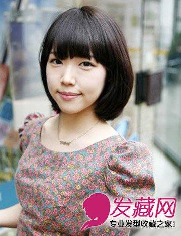 > 清甜的韩式短发发型 bob的知性美减龄不止5岁  导读:35岁适合发型