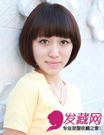 清甜的韩式短发发型 bob的知性美减龄不止5岁(7)导读:35岁适合发型