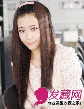 时尚甜美的梨花头(7)  导读:韩国可爱发型七 发型:无刘海长直发 精致