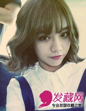时尚的齐肩发型设计大全 韩式外卷短发最时髦(7)