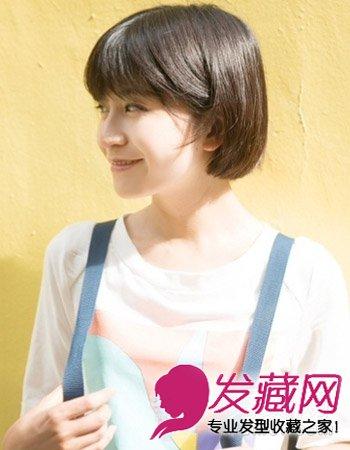 秋天女生适合什么短发 甜美的短发发型(6)