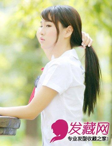 中学生发型该怎么弄呢? 清甜萌妹金秋最可爱(7)
