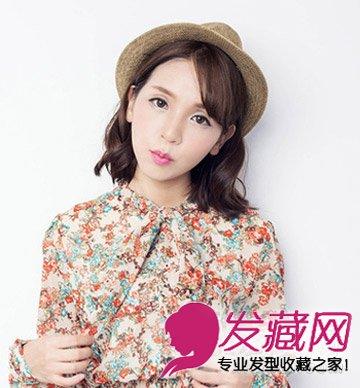 甜美范十足的女生中短发发型 粉嫩甜美范十足(5)