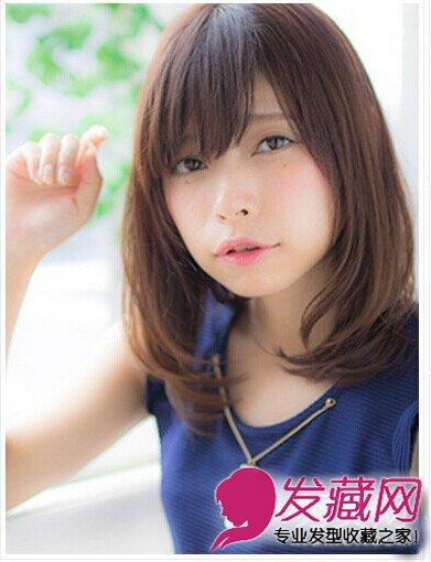 大脸适合什么发型 清新款梨花头发型设计图片(3)
