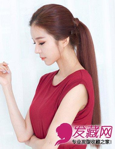 酒大全头发更加显显得别致的短发感,利用时尚缠发尾的v大全露出中红色梳什么头发好看图片发丝图片