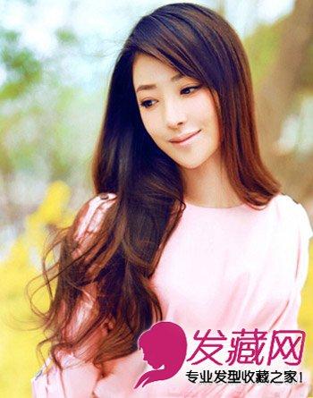 气质的中分刘海 额头高适合的发型 2图片