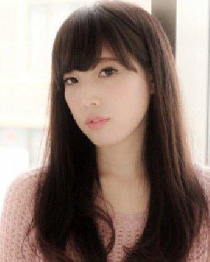 瓜子脸女生适合发型 能提升甜美度中长发发型图片