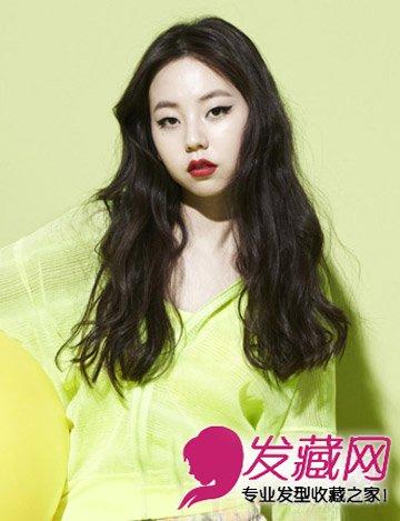 韩国女生烫发发型 蓬松烫发甜美显瘦 →女生圆脸适合什么发型 卷发