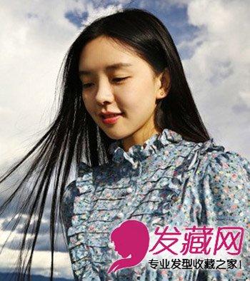 韩式发型扎法 9款韩式中分小脸添魅力(3)图片